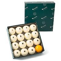 Комплект шаров 68 мм «Aramith Premier», желтый биток