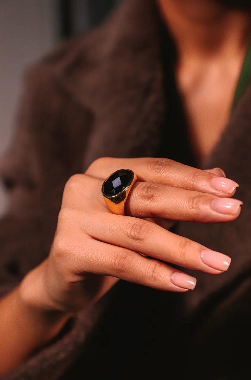 """Кольцо с ониксом """"Bruna»"""