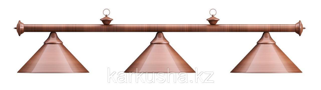 Лампа на три плафона «Elegance» (бронзовая штанга, бронзовый плафон D35см)