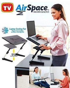 Столик-трансформер для ноутбука Air Space Laptop Desk с охлаждением