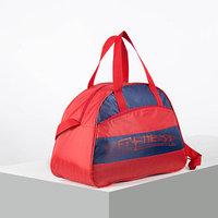 Сумка спорт Фитнес, 1451, 441831, отд на молнии, н/карман, длин ремень, красно/синий