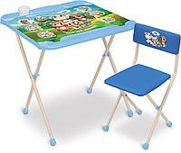 Набор детской мебели стол и стул Ника Наши детки КНД2/1 Кто чей малыш