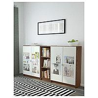 БИЛЛИ / МОРЛИДЕН Стеллаж, коричневый ясеневый шпон, 200x30x106 см, фото 1