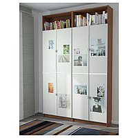 БИЛЛИ / МОРЛИДЕН Стеллаж, коричневый ясеневый шпон, 160x30x237 см, фото 1