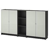 БИЛЛИ / МОРЛИДЕН Стеллаж, черно-коричневый, 200x30x106 см, фото 1