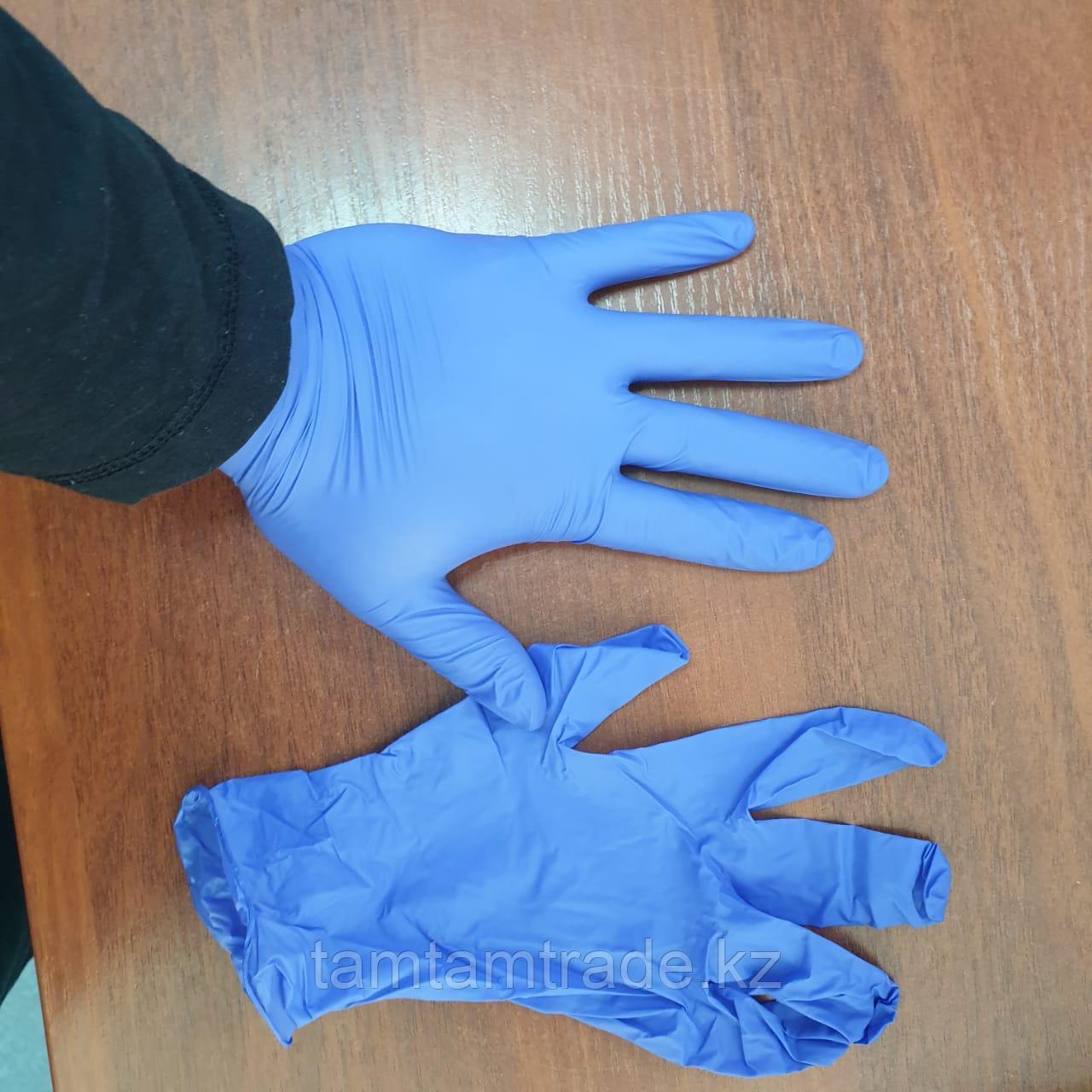 Перчатки диагностические нитриловые