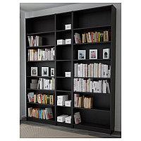 БИЛЛИ Стеллаж, черно-коричневый, 200x28x237 см, фото 1