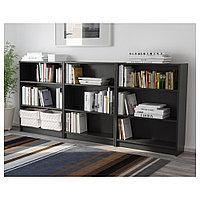 БИЛЛИ Стеллаж, черно-коричневый, 240x28x106 см, фото 1