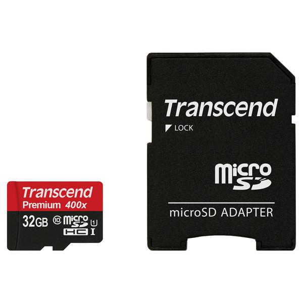 Карта памяти MicroSD Transcend TS32GUSDU1 (32Gb)