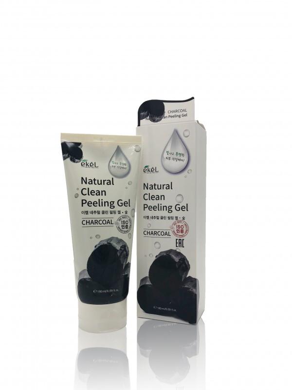 Ekel Charcoal Natural Clean Peeling Gel Пилинг-Гель С Древесным Углём 180мл.