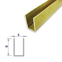 Латунный П-образный профиль, 4*8 мм.