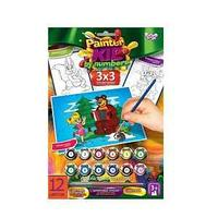 "Danco Toys Набор для творчества ""Раскраска по номерам Painter kids Маша и медведь с елочкой"""