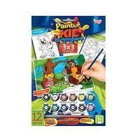 "Danco Toys Набор для творчества ""Раскраска по номерам Painter kids Маша и медведь с зайцем"""