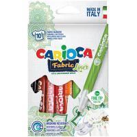 """Carioca Набор фломастеров для ткани Carioca """"Fabric Liner"""" 10цв., картон. уп., европодвес"""
