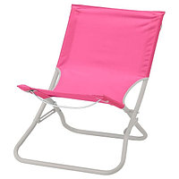 Стул пляжный складной ХОМЭ розовый ИКЕА, IKEA, фото 1