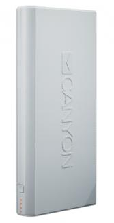 Портативный аккумулятор Canyon 16000 (CNE-CPBF160W, White)