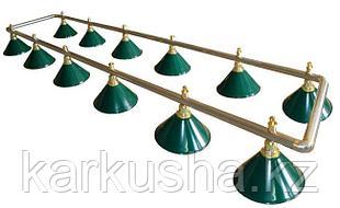 Светильники бильярдные на двенадцать плафонов