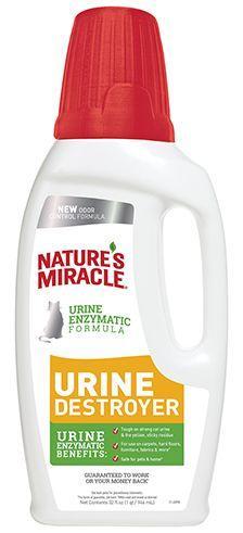 Уничтожитель пятен и запахов от мочи кошек, 8in1 Nature`s Miracle - 946 мл
