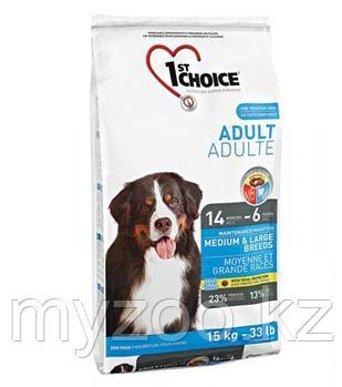 1st Choice (Фест Чойс) Adult Medium and Large breeds корм для взрослых собак средних и крупных пород 15 кг