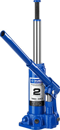 Домкрат гидравлический бутылочный T50, ЗУБР Профессионал 43060-2, 2т, 180-347мм, фото 2