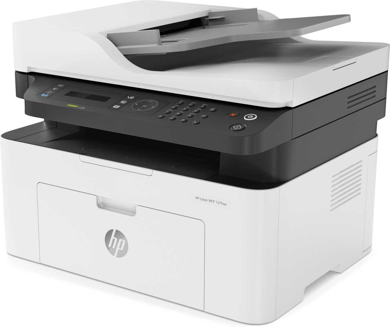 Мфу HP 4ZB84A HP Laser MFP 137fnw Printer (A4) , Printer/Scanner/Copier/Fax, 1200 dpi, 20 ppm, 128 MB, 600