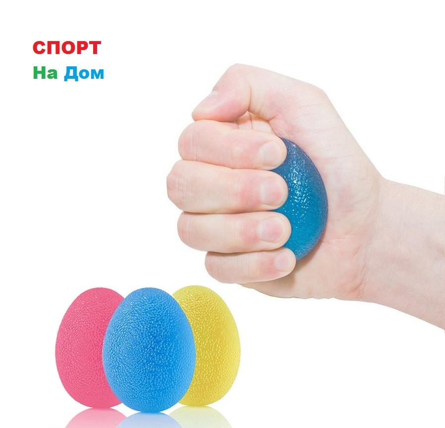 Кистевой силиконовый эспандер в форме яйца (в комплекте 3 штуки)
