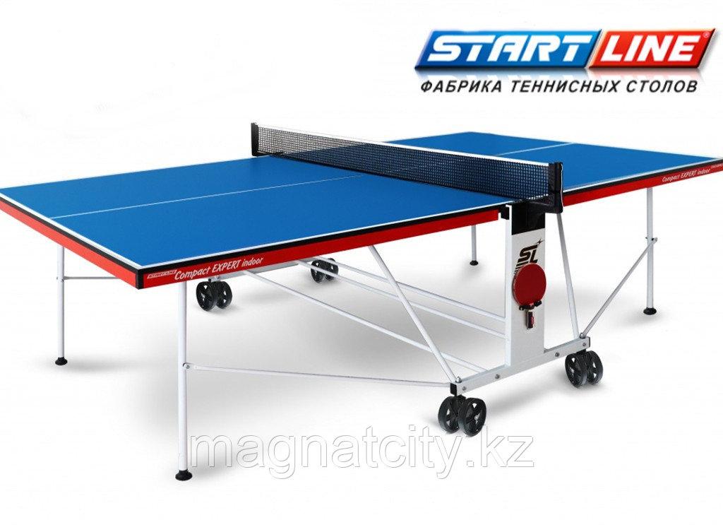 Теннисный стол Compact Expert Indoor с сеткой СИНИЙ (BLUE)