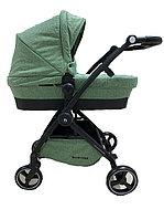 Универсальная детская коляска  2в1 BABYKISS SHUTTLE (зеленый лен). Китай