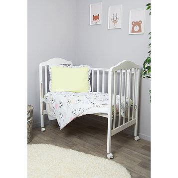 Детское постельное бельё «Конфетти», размер 110×143 см, 112×148 см, 40×60 см, цвет салатовый