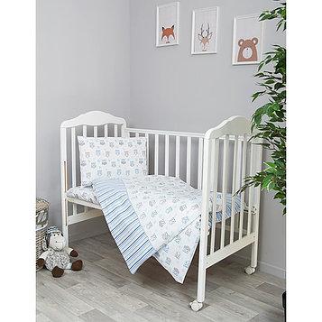 Детское постельное бельё «Софушки», размер 100×140 см, 110×140 см, 40×60 см, цвет голубой