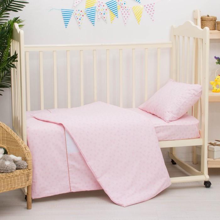 Детское постельное бельё «Умка», размер 100×140 см, 110×140 см, 40×60 см, цвет розовый