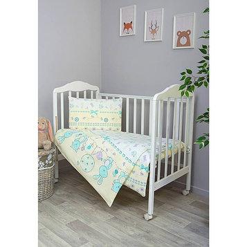 Детское постельное бельё «Акварель», размер 110×144 см, 110×150 см, 40×60 см, цвет бирюзовый