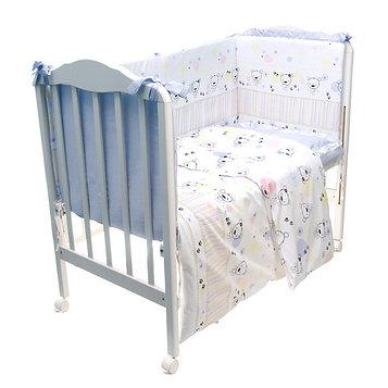 Детское постельное бельё «Конфетти», размер 110×143 см, 112×148 см, 40×60 см, цвет голубой