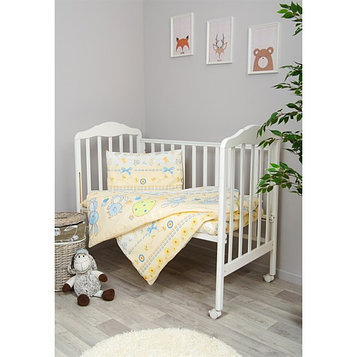 Детское постельное бельё «Акварель», размер 110×144 см, 110×150 см, 40×60 см, цвет голубой
