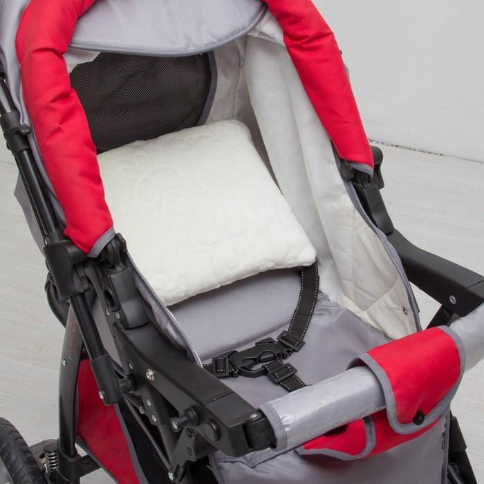Подушка в коляску «Зефирка», размер 30 × 28 см, цвет молочный
