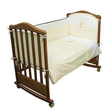 Детское постельное бельё «Пушистик», размер 100×143 см, 112×148 см, 40×60 см, цвет салатовый