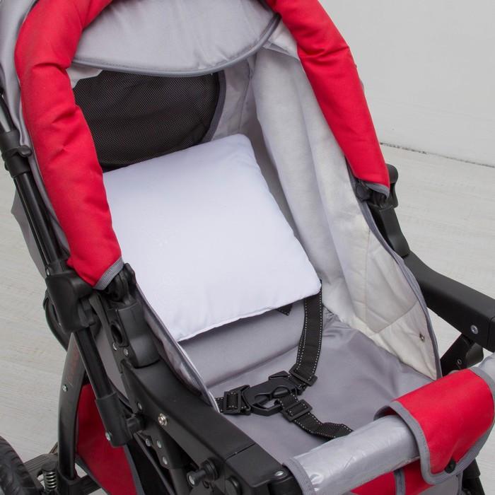 Подушка в коляску «Бантик», размер 30 × 28 см, цвет белый