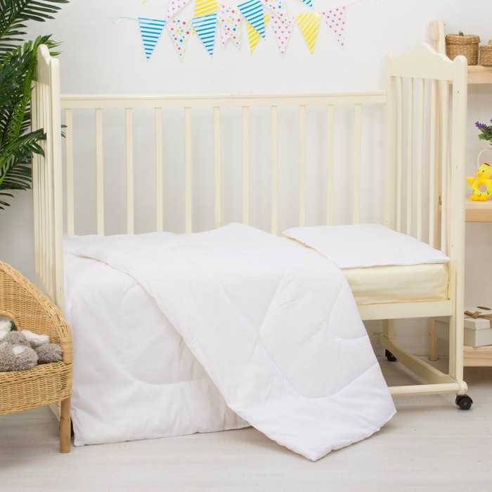 Комплект в кроватку «Лебяжий пух», 2 предмета, цвет белый