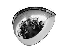 Зеркало для помещений купольное четверть сферы 800мм