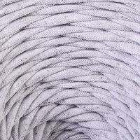 Пряжа трикотажная широкая 'Saltera' 100м/300гр, ширина 7-9 мм (99 светло-серый меланж)