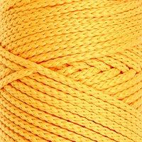 Шнур для вязания без сердечника, полиэфир 100 , ширина 3 мм, 100 м / 210 г (16 жёлтый)