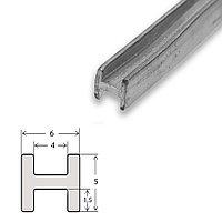 Свинцовый Н-образный профиль (двутавр), 4*5 мм.