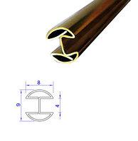 Латунный Н-образный профиль (двутавр), 4*8 мм.