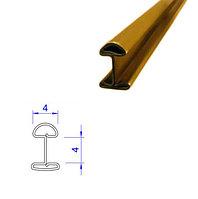 Латунный Н-образный профиль (плоско-выпуклый), 4*4 мм.