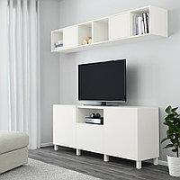 БЕСТО / ЭКЕТ Комбинация для ТВ, белый, 210x40x220 см, фото 1