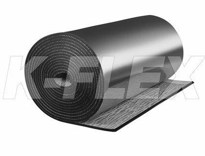 Рулонная теплоизоляция K-Flex ST AL CLAD+AD (алюминизированные, с клеевым слоем), фото 2