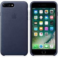 Оригинальный чехол Apple для IPhone 8 Plus / 7 Plus Leather Case - Midnight Blue