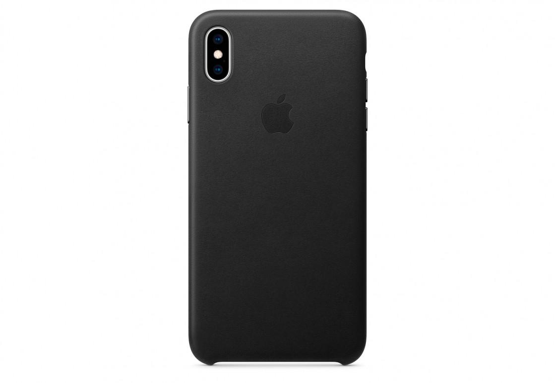 Оригинальный чехол Apple для IPhone XS Max Leather Case - Black - фото 1