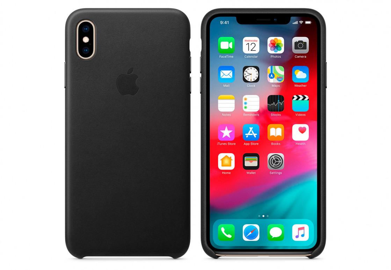 Оригинальный чехол Apple для IPhone XS Max Leather Case - Black - фото 2