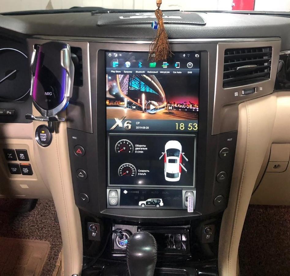 Монитор Тесла стиль для Lexus LX570